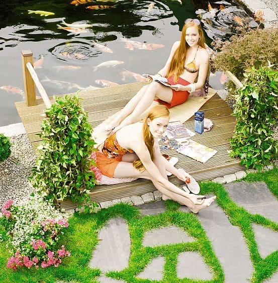 Photo of Yin und Yang im Gartenteich
